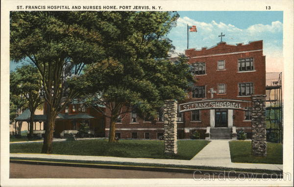 St. Francis Hospital and Nurses Home Port Jervis New York