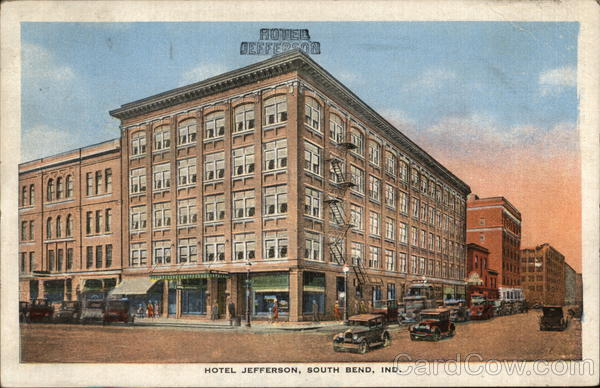 HOTEL JEFFERSON, SOUTH BEND, IND. Indiana