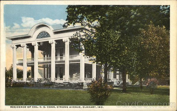 Residence of C. G. Conn, Strong Avenue Elkhart Indiana