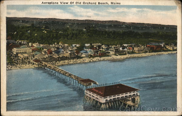 Aeroplane View of Old Orchard Beach Maine