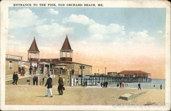 Entrance to The Pier Old Orchard Beach Maine