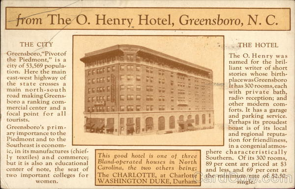 The O. Henry Hotel Greensboro North Carolina