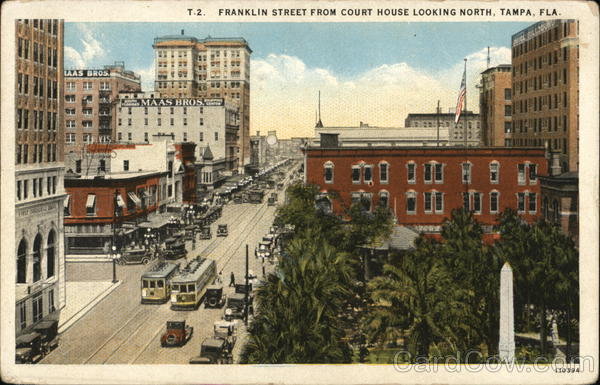 Franklin Street from Court House Looking North Tampa Florida