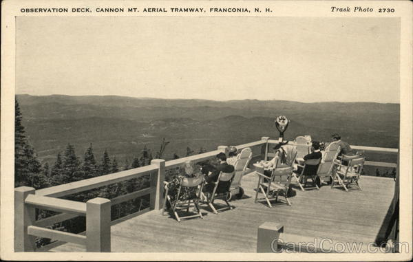 Observation Deck, Cannon Mt., Aerial Tramway Franconia New Hampshire