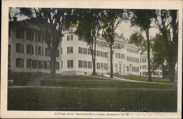 College Row, Dartmouth College Hanover New Hampshire