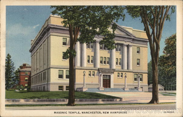 Street View of Masonic Temple Manchester New Hampshire