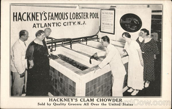 Hackney's Clam Chowder -Slod by Quality Grocers All Over the Unitedb States