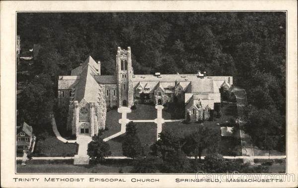 Aerial View of Trinity Methodist Episcopal Church Springfield Massachusetts