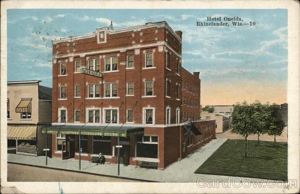 Street View Of Hotel Oneida Rhinelander Wisconsin
