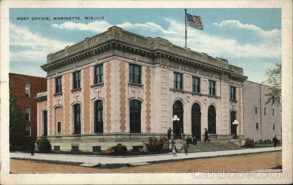 Post Office Marinette Wisconsin