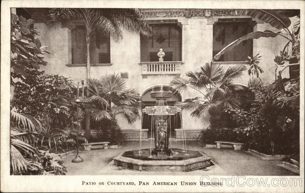 Patio or Courtyard, Pan American Union Building Washington District of Columbia
