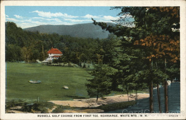 Russell Golf Course from First Tee Kearsarge New Hampshire