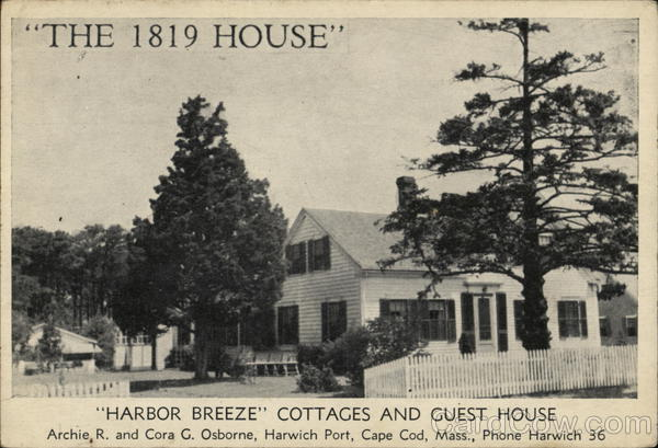 The 1819 House, Harbor Breeze Cottages and Guest House Harwich Port Massachusetts
