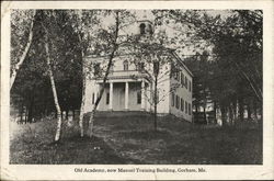 Old Academy, Now Manuel Training Building Postcard