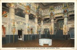 Corner of the Grand Foyer of the Aztec Theater