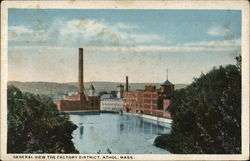 General View The Factory District Postcard