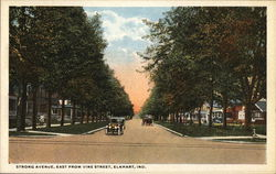 Strong Avenue, East From Vine Street Postcard