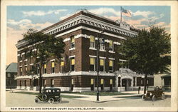 New Municipal and Superior Court Building Postcard