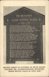 Bronze Tablet in Rotunda of State House