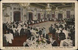 Scene at One of the Dinner Dansants in the Main Dining Room of the Palace Hotel