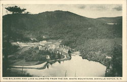 Balsams and Lake Gloriette from the Air, White Mountains