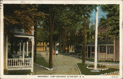 Broadway Camp Grounds Postcard