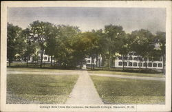 College Row from Campus, Dartmouth College