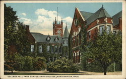 College Hall from Campus, Smith College