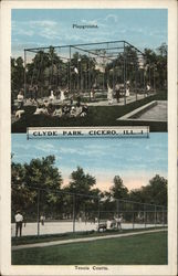 Tennis Courts at Clyde Park Postcard