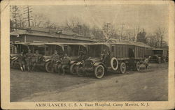 Ambulances, U.S.A. Base Hospital, Camp Merritt