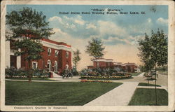 """Officers' Quarters,"" United States Naval Training Station Postcard"