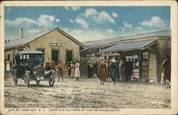 Visitors at the Railroad Depot