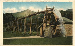 Water Wheel at the Famous Indian Head, Franconia Notch
