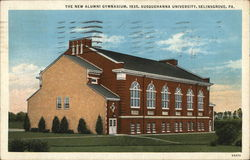 New Alumni Gymnasium, 1935, Susquehanna University Postcard