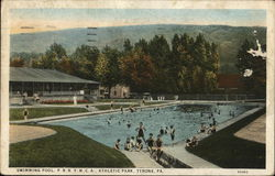 Swimming Pool, PRR YMCA Athletic Park Postcard