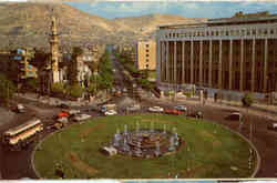 Damascus-Place of 29 May Damas-Place de 29 Mai Postcard