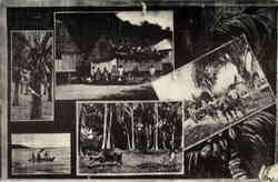 Early Chamorro Life Postcard