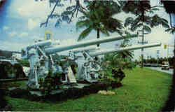 Two Japanese Antiaircraft Guns Postcard