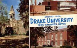 Greetings from Drake University Postcard