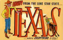 Howdy From The Lone Star State Postcard