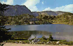 Mirror Lake in the Snowy Range Postcard