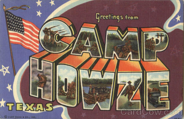 Greetings From Camp Howze Texas Large Letter