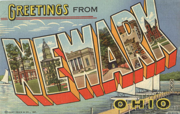 Greetings From Newark Ohio Large Letter