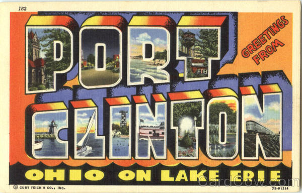 Greetings From Port Clinton Ohio Large Letter