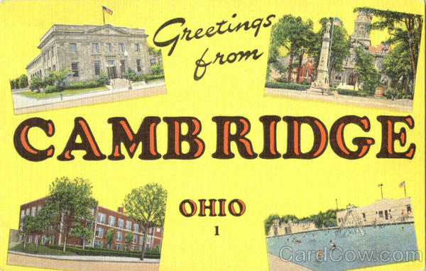 Greetings From Cambridge Ohio Large Letter