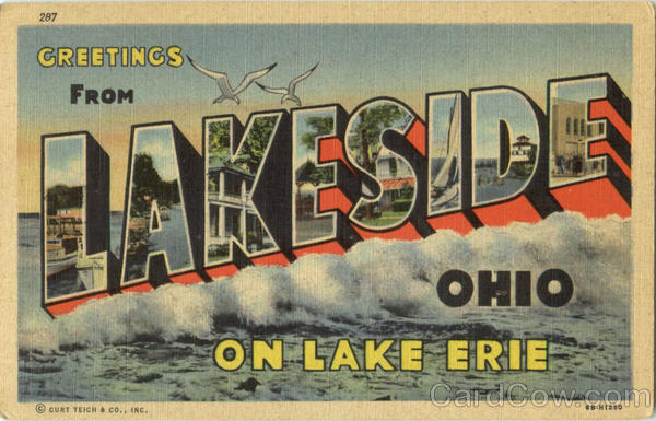 Greetings From Lakeside Ohio Large Letter