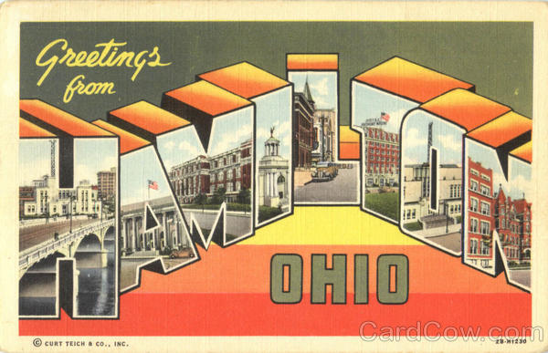 Greetings From Hamilton Ohio Large Letter