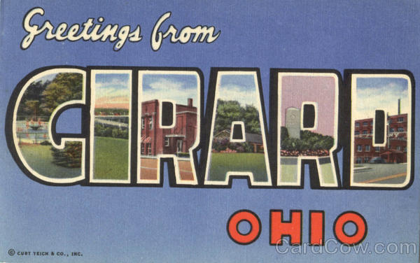 Greetings From Cirard Girard Ohio Large Letter