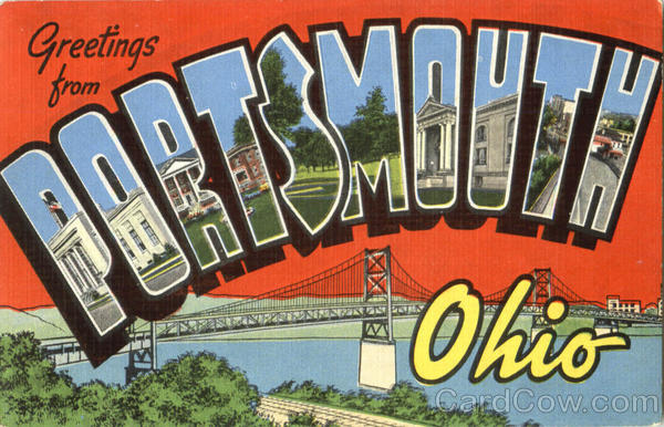 Greetings From Portsmouth Ohio Large Letter