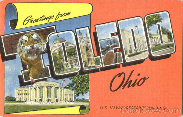Greetings From Toledo Ohio Large Letter
